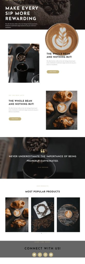 homepage-coffee shop